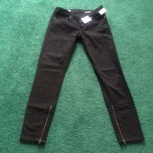 Gap 1969 Skinny Black Zip Pants